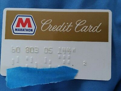 VINTAGE Marathon OIL GASOLINE CREDIT CARD GAS STATION ORIGINAL Charge Plate