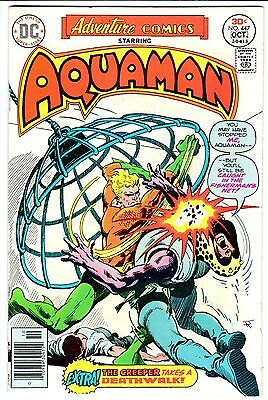 ADVENTURE COMICS #447 - AQUAMAN!  Black Manta!  CREEPER Story!  VF- (7.5)   1976