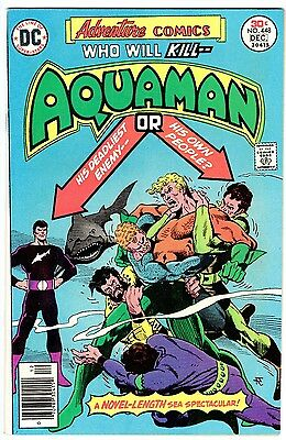ADVENTURE COMICS #448 - AQUAMAN!  Black Manta!  CREEPER Story!  VF- (7.5)   1976