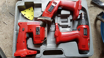 Power Devil Cordless 12v  3x power tool set / Drill / Sander / Jigsaw
