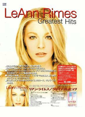 Leann Rimes teen magazine pinup clipping Greatest Hits Album Japan