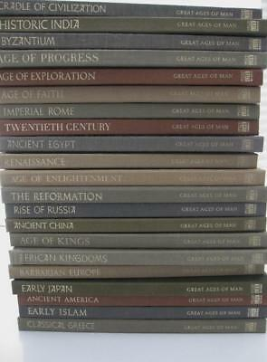 Great Ages of Man - Complete Set of 21 from Time Life Books 1965-72 PLUS map