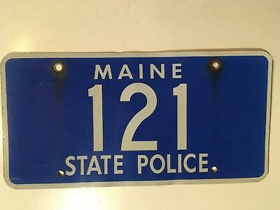 1960's 1970's Maine State Police Trooper Low Number Digit Palindrome ORIGINAL