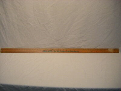 """Vintage Jimmy Carter 39th President 48"""" Wood Stick Ruler Metric Conversion S"""