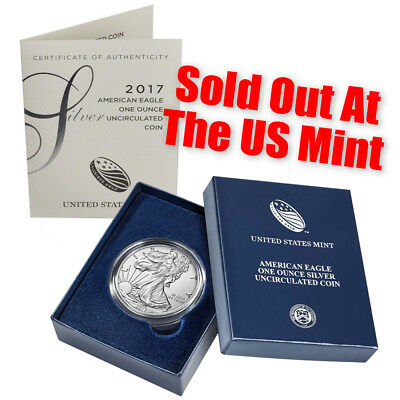 2017-W  Burnished Silver Eagle-- With Box and COA - Best Price Ever.