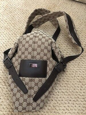 GUCCI Beige Canvas Infant Baby Carrier