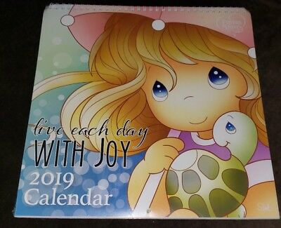 Precious Moments 2019 Wall Calendar w/12 postcards brand new 12x12 spiral top