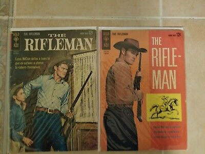 The Rifleman / One Photo Cover And One Painted Cover Both 1962 In Vg And Vg+
