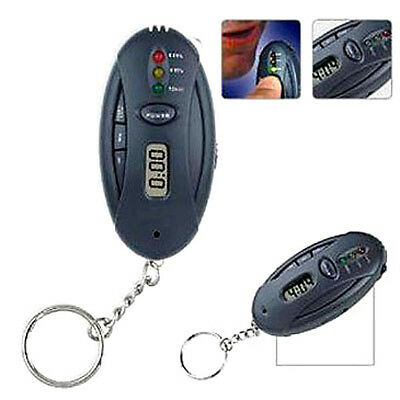 2 X Alcohol Breathalyser And Torch Key Ring - Australian Seller Fast Delivery