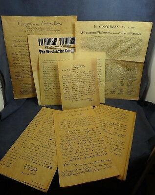 DOCUMENTS OF AMERICAN FREEDOM, 7 Authentic Reproductions on Antiqued Parchment