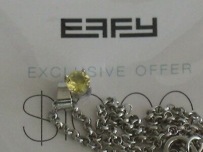 EFFY Light Yellow Stone Necklace Pendant from Princess Cruise