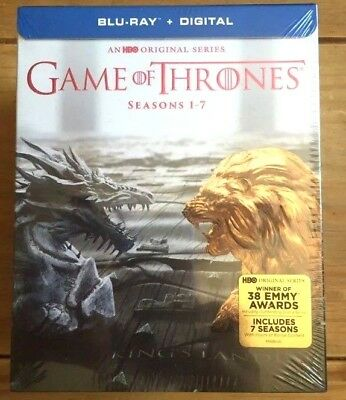 Game of Thrones: The Complete Seasons 1-7 (Blu-ray Disc, No Digital) Like New