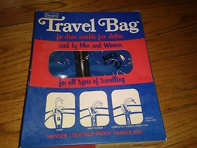 Vintage New In Box Sears Travel Bags Garment Bags Suit And Dress