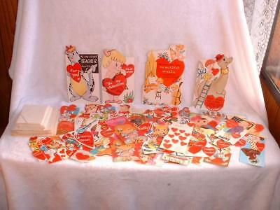 Lot Of 76 Vintage Valentines Day Cards And 90 Assorted Valentine's Envelopes