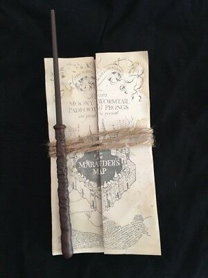 Harry Potter Marauders Map And Wand