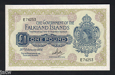 FALKLAND ISLANDS P-8b.  1974 1 Pound..  UNC