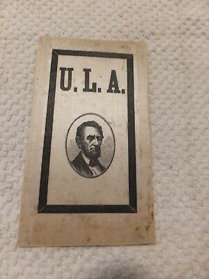 Rare Mourning(?) Ribbon U.l.a. With Image Of Abraham Lincoln--#f95
