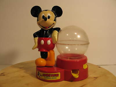 Vintage 1980s Mickey Mouse Gumball Machine Coin Bank Disney