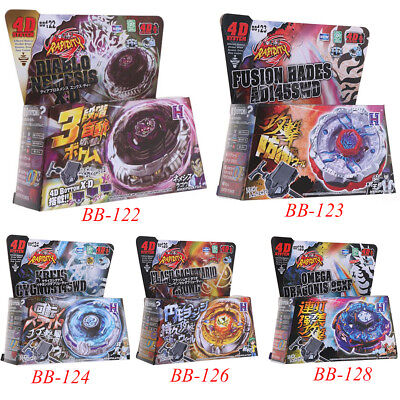 New Top Metal Master Fusion Rapidity Fight Beyblade 4D System Launcher Grip Set