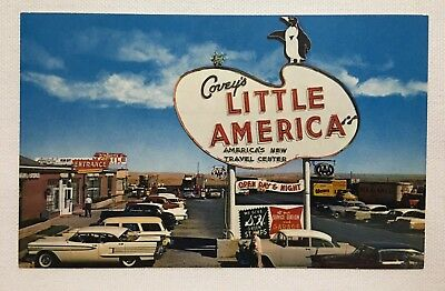 Wyoming WY Little America, Covey's Travel Center, unposted Vintage Old Postcard