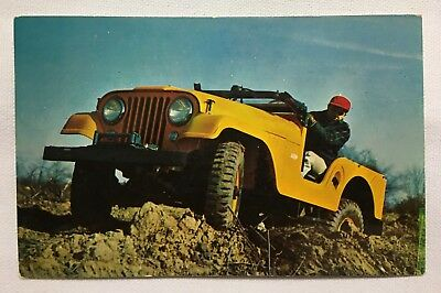 1968 Illinois IL Foosland, Jeep Model CJ-5, old Vintage Postcard