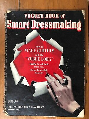 Vintage Rare Vogue's Book of Smart Dressmaking 1942