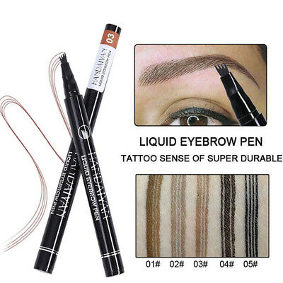 HANDAIYAN Microblading Eyebrow Tattoo Pen Waterproof Fork Tip Makeup Ink Sketch