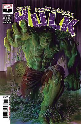 Immortal Hulk #1 Alex Ross Regular Cover & Blank Variant It Is A Sell Out!!