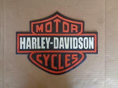 Cast Iron Harley Davidson Motorcycles Sign Harley Dealer Display Plaque