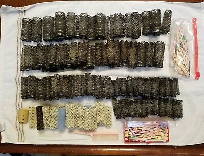 WIRE HAIR CURLERS VINTAGE HUGE LOT OF BRUSH STYLE MESH Picks/COMBS 200+ PIECES