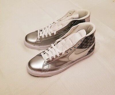 NIKE silver hi-top shoes size 11  brand new never worn