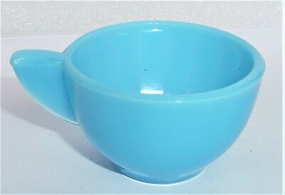 Akro Agate Large Interior Panel Blue Luster Cup ~ Child's Tea Set ~ 4 Available