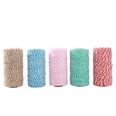 AU_ 100yard/Spoon Colorful Cotton Baker's Twine String Gift Packing Craft DIY Ro