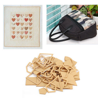 54Pcs Leather Craft Acrylic Stencil Template Stitching Quilting DIY Craft Set