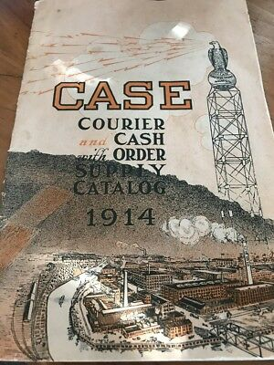 Vintage CASE Courier Cash Order Supply Catalog 1914 Very Good Condition