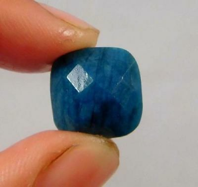 Mind-Blowing Natural-Dyed-Faceted-Blue-Sapphire-Gemstone 6 CT 10x10  W475
