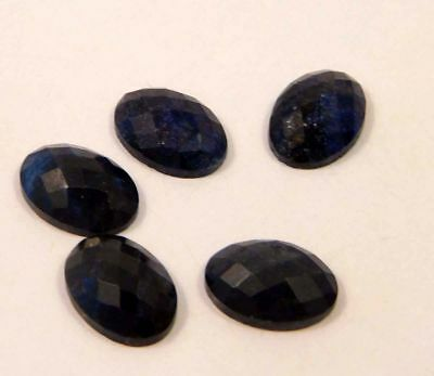 Mind-Blowing Natural-Dyed-Faceted-Blue-Sapphire-Gemstone 35 CT 12x8  NG18280
