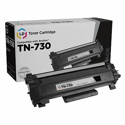 LD Compatible Replacement for Brother TN730 Black Laser Toner Cartridge