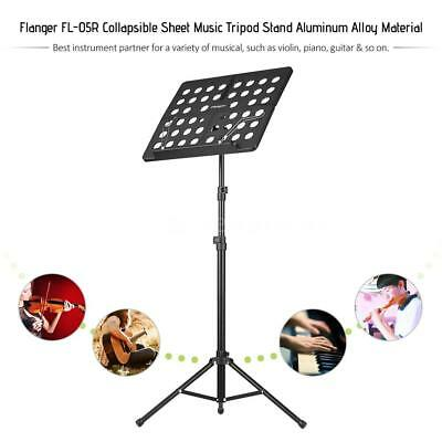 Music Conductor Stand Adjustable Heavy Duty Sheet Tripod Holder Black New Y6G6