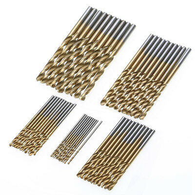 50Pcs HSS Cobalt Twist Drill Bits HSS-Co For Hard Metal Stainless Steel 1mm-3mm