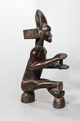 Chockwe Seated Chief Figure, Angola, African Tribal Arts, Sculpture