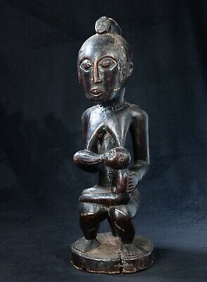 Tabwa Maternity Figure, D.R. Congo, African Arts, Timber Carving