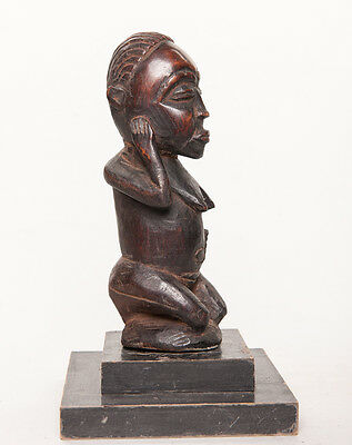 Bembe Female Ancestral Sculpture, D.R. Congo, Zambia, African Tribal Statue