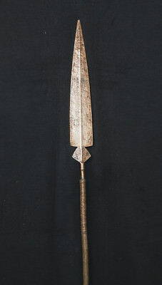 Early 20th, Cen Songye Ceremonial Spear D.R. Congo, Central African Weaponry
