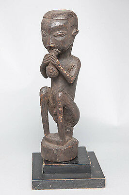 Bakusu Male Seated Sculpture, D.R. Congo, Tribal Sculpture