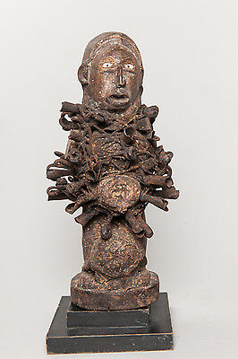 Yombe, Nail Fetish Figure, D.R. Congo, African Tribal Sculpture