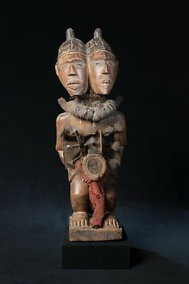 Yombe, Janus Headed Nail Fetish Statue, Democratic Republic of Congo, African