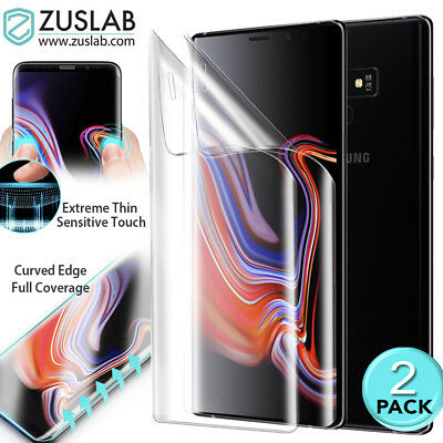 2 Pack For Galaxy Note 9 S9 Plus ZUSLAB Full Coverage Soft TPU Screen Protector