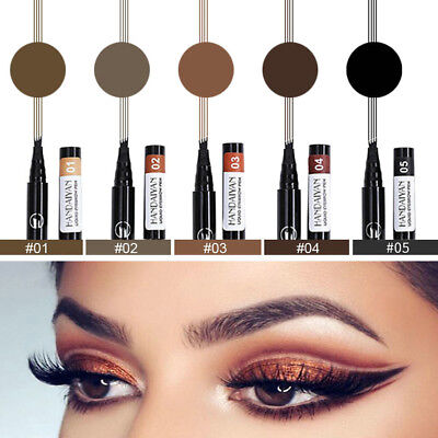 HANDAIYAN Microblading Tattoo Eyebrow Ink Pen Eye Brow Make Up 4 Fork Tip Pencil