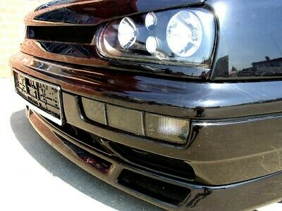 VW Golf Vento MK3 Black Smoke Indicator Repeater Fog Light Lamps Bumper Covers_